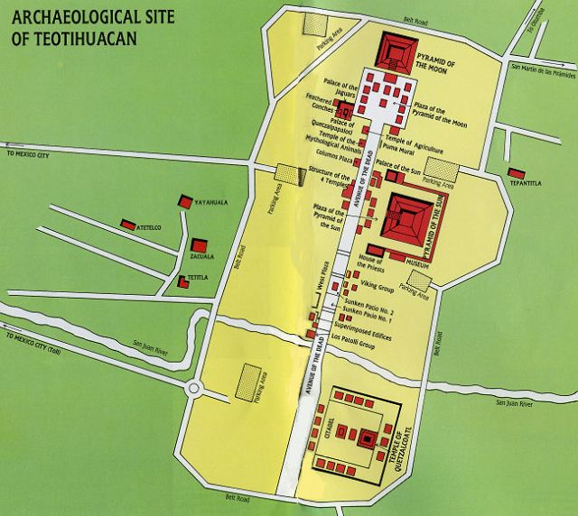 Image result for teotihuacan pyramids layout